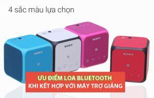 Ưu điểm của Loa Bluetooth khi kết hợp máy trợ giảng