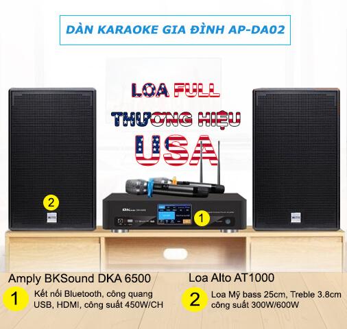 Dàn karaoke gia đình thương hiệu Mỹ AP-DA02