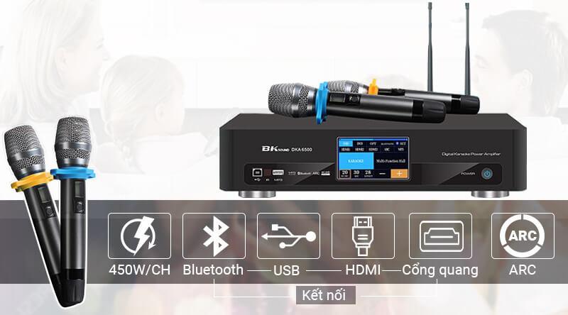 Amply Digital Karaoke Power Amplifier BKSound DKA 6500