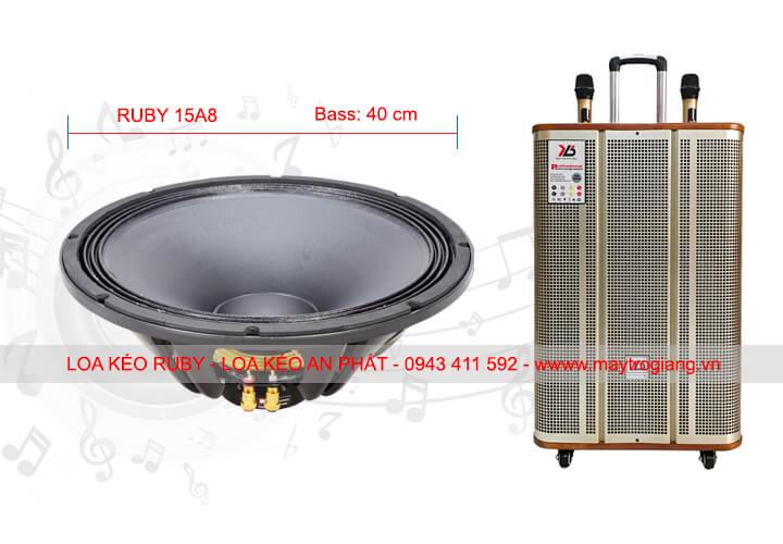 Loa kéo Ruby 15A8 kích thức bass 40cm