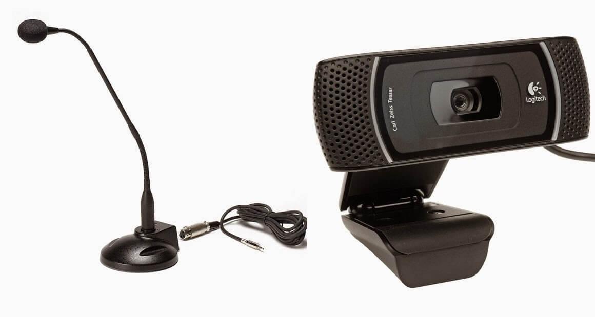 Webcam và micro là hai thiết bị hỗ trợ dạy học trực tuyến hiệu quả cho giáo viên