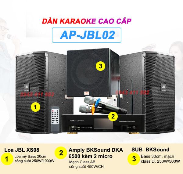 Dàn Karaoke cao cấp cho gia đình JBL02 chính hãng